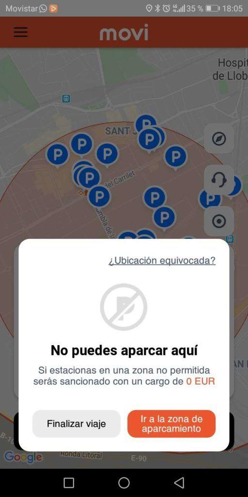 No puedes aparcar aquì